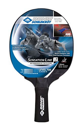 Donic 700 Wooden All-rounder Table Tennis Bat with Sensation Line (Black, 86g)