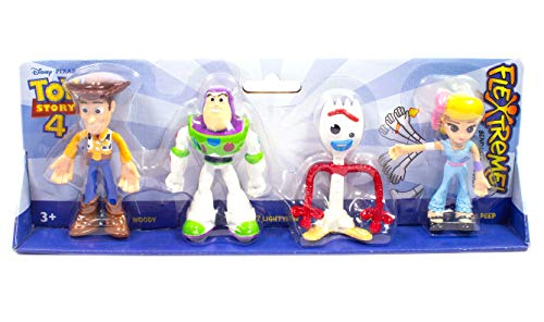 Mattel Toy Story 4 Action Figure (4-Inches - 4 Pack), White, Small (GLG63)