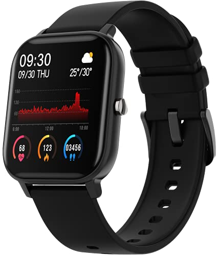 Fire-Boltt SpO2 Full Touch 1.4 inch Smart Watch 400 Nits Peak Brightness Metal Body 8 Days Battery Life with 24*7 Heart Rate monitoring IPX7 with Blood Oxygen, Fitness, Sports & Sleep Tracking (Black)