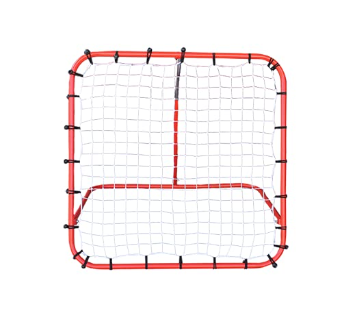 Sapphire Football Rebounder Adjustable Angle Pitchback Trainer and Multi-Sport Ball Net (1x1m)