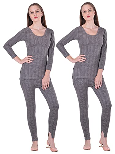 Lux Inferno Ladies 3/4 longs Thermal Top and Bottom Set(Size : 90cm)
