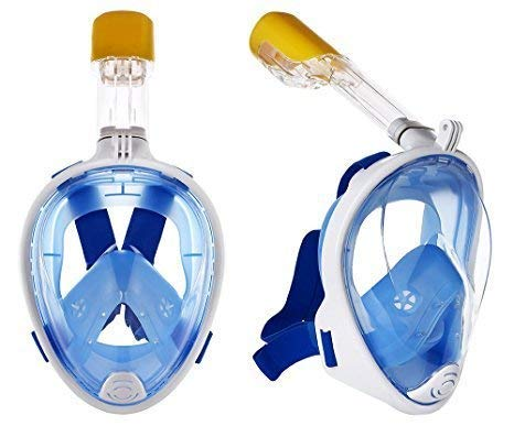 Prakal Snorkel Mask with Detachable Snorkeling Mask 180 Panoramic View Anti-Fog Anti-Leak Dry Top Set for Adult and Kids