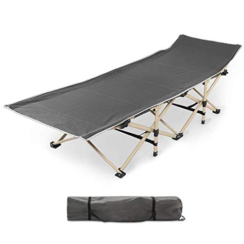 Urbancart ® Portable Steel Frame Outdoor Folding Ergonomic Design Cot Bed with Carry Bag Cover