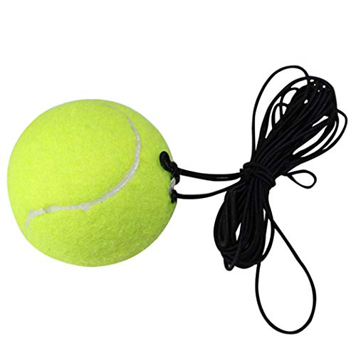 Outgeek Practice Exercise Rebound Training Rubber Ball with String for Tennis Trainer, Green, S