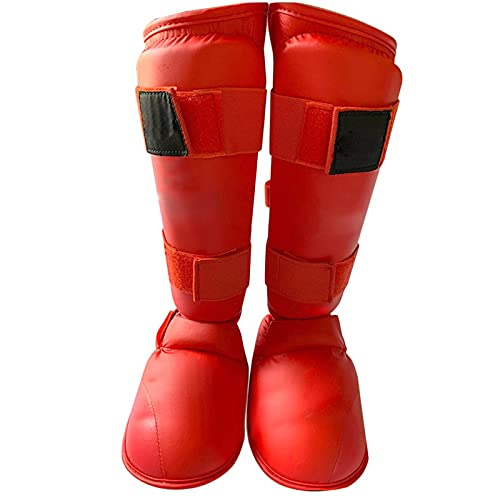 WorldCare® Shin Guards Instep Leg Protector Gear for Martial Arts Sparring Bo Kickbo Thai Training Pads-Daerzy