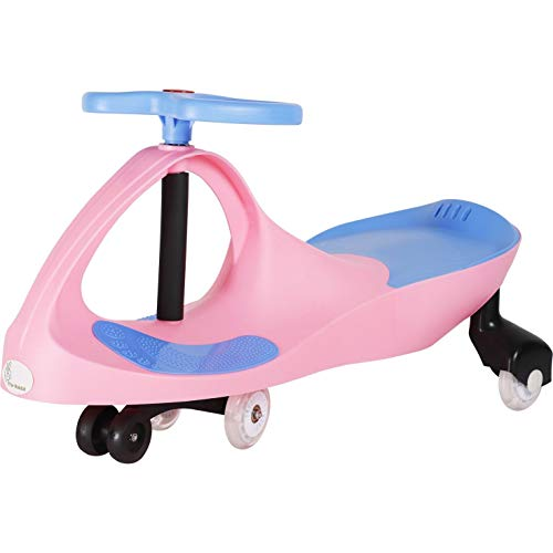 R for Rabbit Iya Iya Magic Swing Car for Baby | Twister Ride On Car | Magic Toy Car for Kids | 120 Kgs Weight Capacity | 3+ Years with Scratch Free Wheels (Pink Blue)