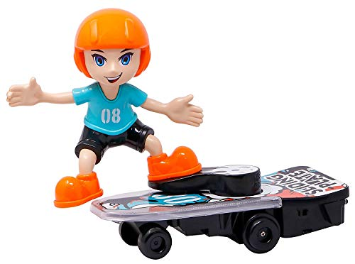 Zest 4 Toyz 360 Degree Revolving Electric Stunt Scooter Skateboard with Light and Music | Battery Operated Toy for Kids