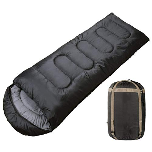 REDEEM Cotton Portable and Lightweight Incorporation Sleeping Bag for Camping, Hiking, Traveling, Backpacking and Outdoor Activities - Black