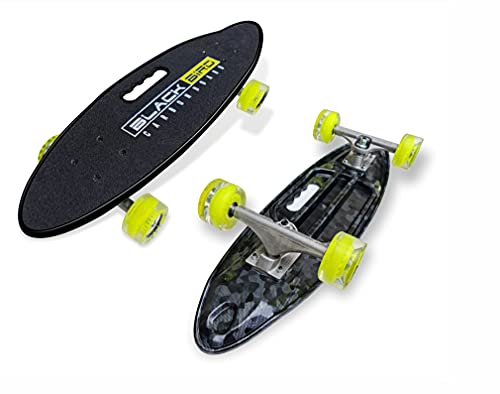 JASPO Cruiser Black Bird Skateboard 25.5 X 7 Inches Best for Beginners and Professionals with 65 mm 80A Hardness PU Wheels, ABEC-7 High Precision Bearings, Good for All Age Groups (Blackbird)
