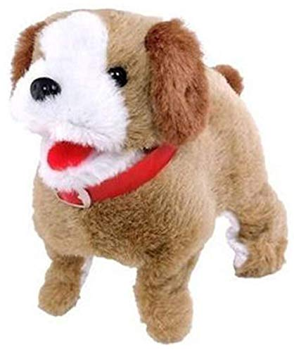 SHINETOY™ Fluffy Fantastic Jumping Puppy Dog Adorable Toy, Walking and Barking Dog Soft Toy Fantastic Puppy Battery Operated Back Flip Jumping Dog Jump Run Toy Kids, Multicolor