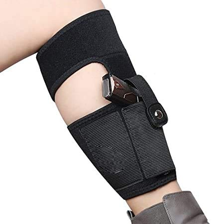 GunAlly Gizmoway Non-Slipping Ankle Holster for Concealed Carry Breathable Neoprene Gun with Magazine Pocket and Secure Strap