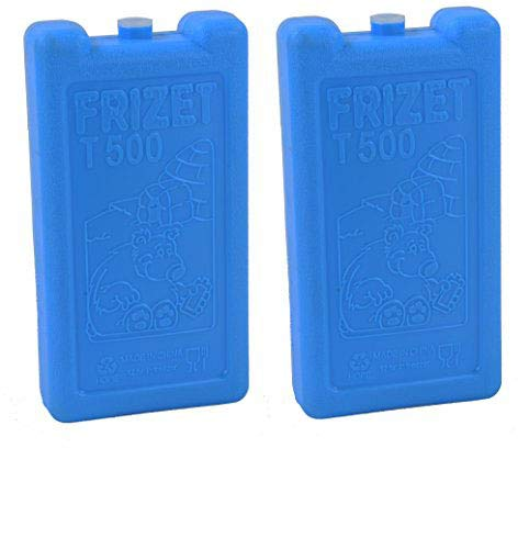 Lifestyle-You Frizet T 500 500 ML Freezer Blocks 2 Pcs Freezer Pack Ice Pack for Ice Box Cold Pack Cooler Box Camping Picnic Outdoors Cars Etc.