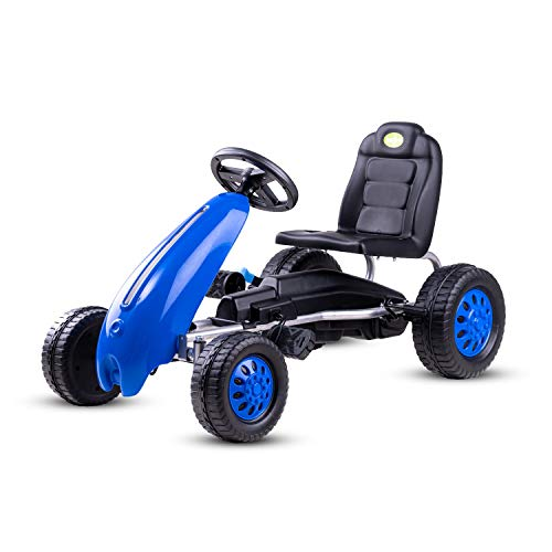 Baybee Kids Cruiser Pro Pedal Go-Kart Racing Ride-on Toy Car for Baby Tricycle with Parental Control Handle for Kid   Kids Trike, Baby Cycle, Kids Tricycle for Boys & Girls Age 2-6 Years (Blue)