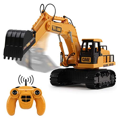 Jack Royal 1:22 Scale RC Excavator Bulldozer Electric Remote Control Toys for Kids