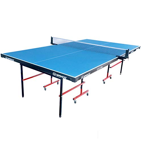 Gymnco Club Table Tennis Table with Wheel (Laminated Top 18 mm) (Free TT Table Cover + 2 TT Racket & Balls)