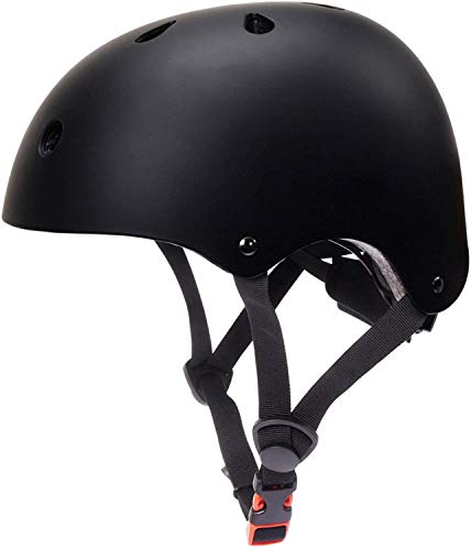 PROBEROS ® Adjustable ABS Shell Safety Helmet Protective Suitable for Youth/Adult (Black)
