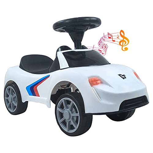 Dash F1 Musical Ride on Car with Front and Rear Lights in Different Colors, Steering Drive, Perfect for Kids (1 to 3 Years , White)