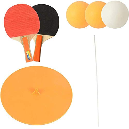 dealsKart Table Tennis Trainer, Table ping Pong with Elastic Soft Shaft, Table Tennis Rebound Trainer, Training Equipment Indoor & Outdoor Play Anywhere for Adults/Childs