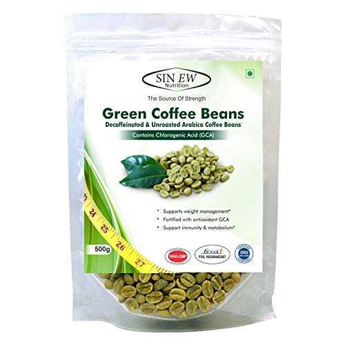 Sinew Nutrition Green Coffee Beans 500gm for Weight Management, Green Coffee