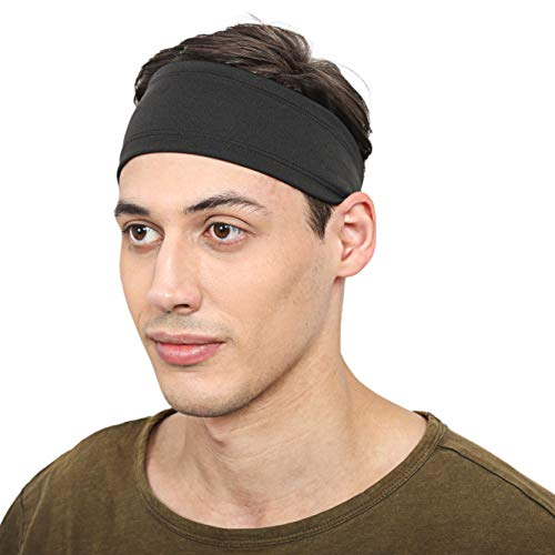 BISMAADH Mens Headband - Running Sweat Head Bands for all Sports- Athletic Sweatbands for Workout,Exercise, Yoga, Cricket, Football - Ultimate Performance Stretch & Moisture Wicking