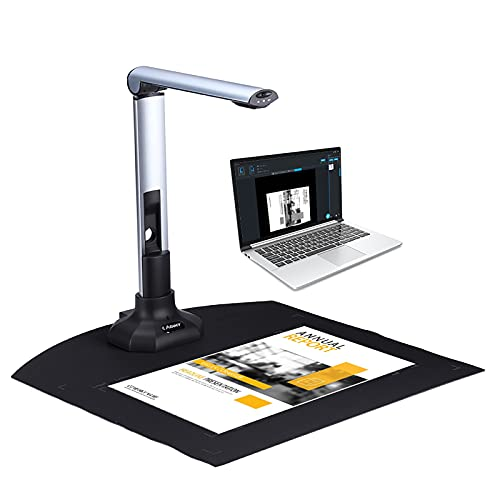 BK52 Portable Book & Document Camera Scanner ture Size A3 HD 10 Mega-Pixels USB 2.0 High Speed Scanner with LED Light for ID Cards Passport Books Watermarks Setting PDF Format Export
