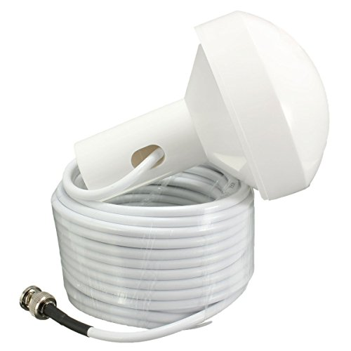 WorldCare® GPS Active Marine Navigation Antenna 5 Meters with Male Plug Connector New