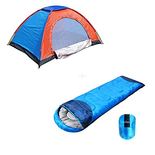 shopper 52.com Polyester Fabric Camping Tent Portable Foldable Tent for Picnic/Hiking/Trekking Dome Tent, 2 Person Tent with Waterproof Thick Carry Bed Camping Sleeping Bag 1 Pcs - 2TENTSLEEPING