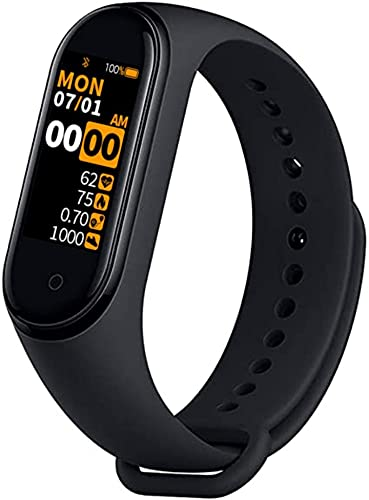 SHOPTOSHOP Smart Band Fitness Tracker Watch Heart Rate with Activity Tracker Water Resistant Body Functions Like Steps Counter, Calorie Counter, Heart Rate Monitor(Black)