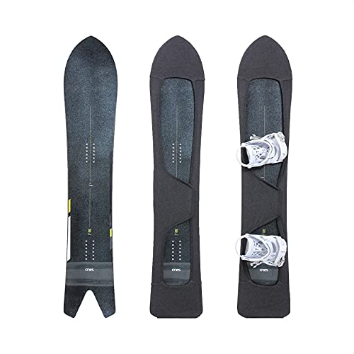 MONS Powder Snowboard Protection Soft Cover for Board Bag with Binding Open Scratch-Resistant Open (M)