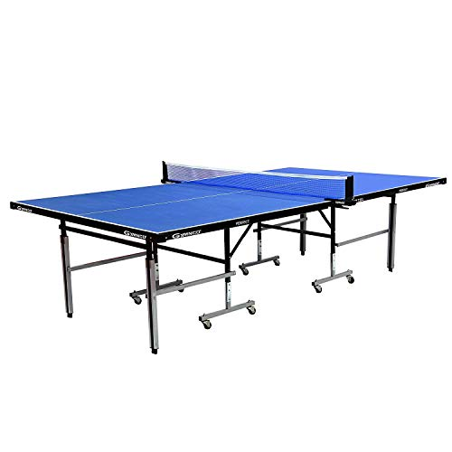 Gymnco Perfect Table Tennis Table With Levellers Top 18 mm ( TT Table Cover + 2 TT Racket & Balls )
