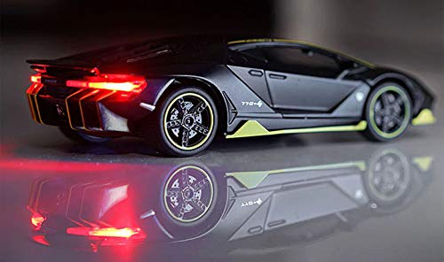US1984 1:32 Diecast Metal Pullback Toy car Openable Door Light and Music Toy car for Kids Best Gifts Toys for Kids Boys Black