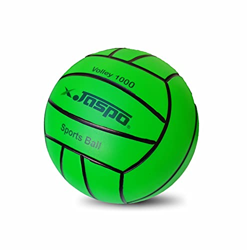 Jaspo Soft Touch Recreational 9 Inches PVC Inflatable Beach Ball / Volleyball - Perfect Size for Indoor or Outdoor Play - (Green)