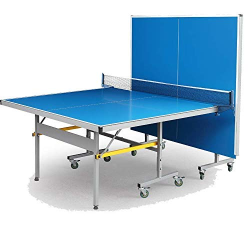 Fieldsheer Deuce 701 IN roll away folding table tennis table with laminated 18 mm top 50mm wheels with lock & levellers (tt table net, clamps, 2 tt bats, 3 balls & tt board cover included)