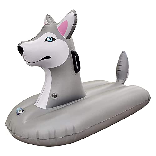 Jet Creations Sled Husky Snow Tube Inflatable 38 inches Long One Person Snow and Water Rider for Kid