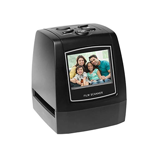 Protable Negative Film Scanner 35mm 135mm Slide Film Converter Photo Digital Image Viewer with 2.4' LCD Build-in Editing Software