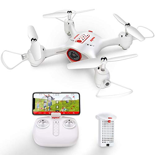 Kiditos Syma X23W RC Drone with Camera Live Video FPV Nano Drone for Kids and Beginners, RC Quadcopter with App Control, Altitude Hold, 3D Flips, Headless Mode, White