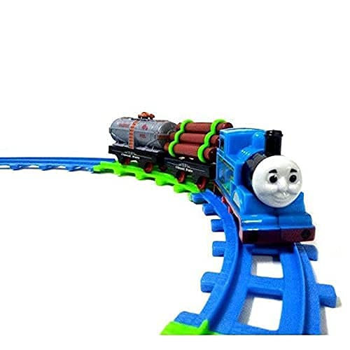 BKA TOYS Model Thomas Cartoon Toy Train Set with Track for Kids | 11 Piece | Battery Operated