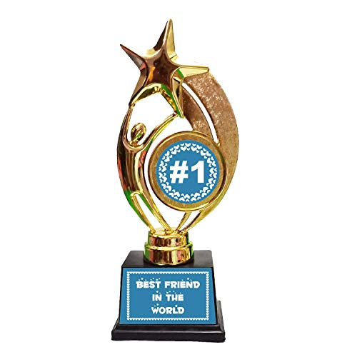 Family Shoping Friendship Day Gifts Best Friend in The World Trophy Medal Award for Best Friend (Friendship Day Special).