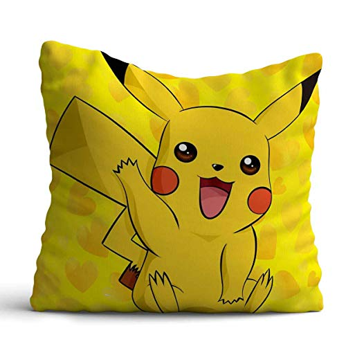 Giftcart Pikachu Cushion Cover for Pikachu Fan/Pillow - Best Birthday Special Gift for Girls and Boys