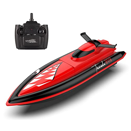 Decdeal RC Boat Remote Control Boat High Speed RC Boat 25Km/h 2.4GHz Waterproof Toy Racing Boat Gift for Kids