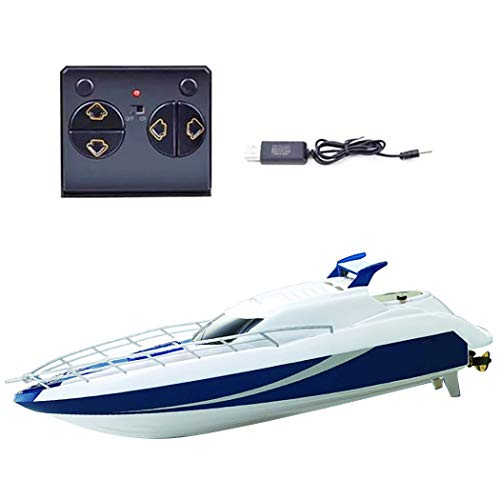 Anjetan Kids RC Boat Wireless High Speed 2.4Ghz Electric Kids Boat Toy Remote Control Pool Toy Racing Boat for Pool High Speed Rc Boats for Kids