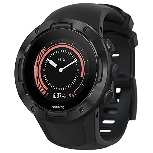 SUUNTO 5 All Black Sports Watch, great battery life, robust multisport compact GPS watch (No-Cost EMI Available)