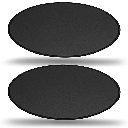 RiaTech 2 Pack Mouse Pad with Stitched Antifray Edges, Non-Slip Rubber Base, Cute Round Water Resistance Coating Speed Type Mousepad for Computer, Laptop- (230mmx230mmx2mm) - Black with Black Border