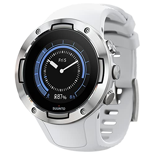 SUUNTO 5 White Sports Watch, great battery life, robust multisport compact GPS watch (No-Cost EMI Available)