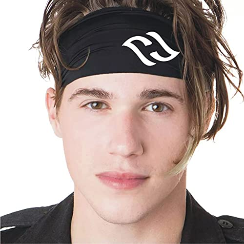 FUNEX Sports Headbands for Men (Black) - ( Pack of 2 ) Lightweight Moisture Wicking Workout Sweatbands for Running, Gym, Yoga, Cycling, Tennis, Cricket and Other Sports ( Pack of 2 )