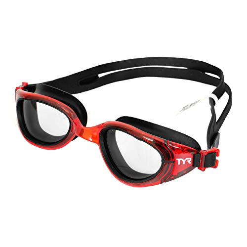 TYR Special Ops 2.0 Transition Swimming Goggles (Clear,Red,Black)