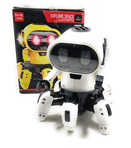 FunBlast Octopus Shape Electric Robot Colorful Music Flashing Lights Dance Toy for Kids Boys Girls (White Color)