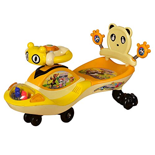 Cosmo Baby Super Galaxy Magic Ride on Car with Twin LED Lights & Musical Rhymes 360°Twister for Kids Boys and Girls ( 1 Year to 4 Years, Orange)