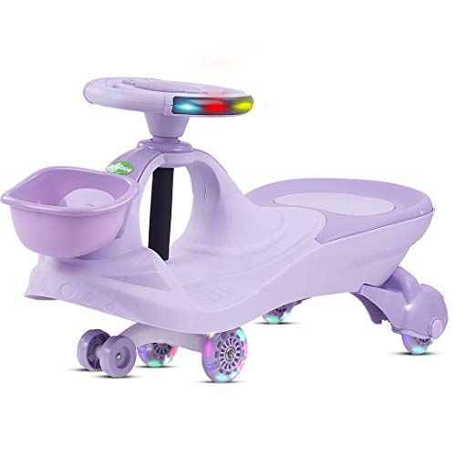 Baybee Lexcen Swing Cars For Kids-Strongest & Smoothest Twister-Magic Car Ride Ons For Kids With PU Wheels-Kids Ride On Baby Car For Kids Babies Suitable Age 2+ Years Boys and Girls, Purple