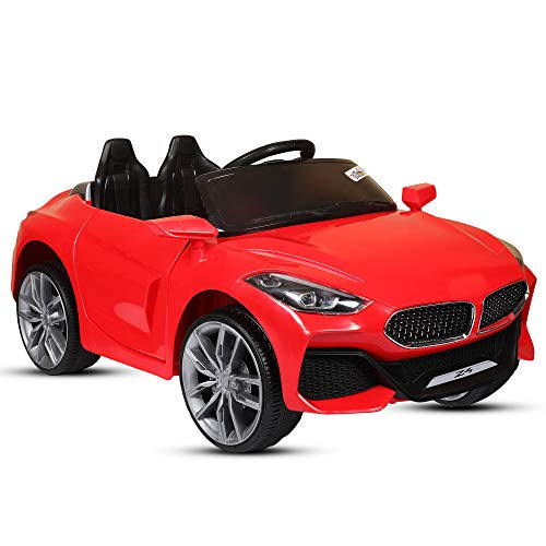 LittleFlyer Getbest Z4 Kids 12V Battery Operated Ride on Car with Remote Control, Red